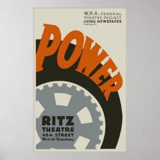"1930s ""Power"" Art Deco Vintage Poster"