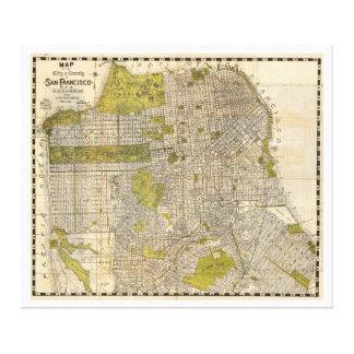 1932 Candrain Map of San Francisco California Canvas Print