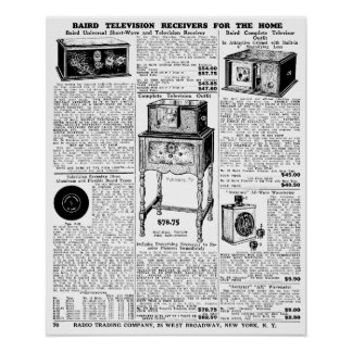 1932 Vintage Newspaper Poster