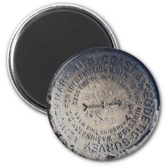 1935 Azimuth Survey Mark 6 Cm Round Magnet