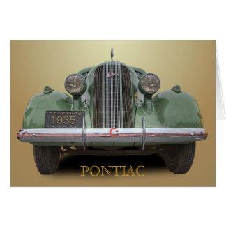1935 PONTIAC CARD