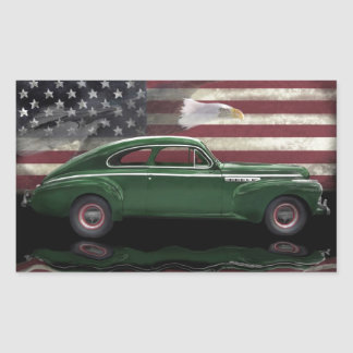 1941 Buick Century Patriot Rectangular Sticker
