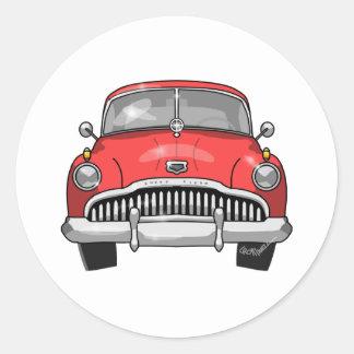 1949 Buick Roadmaster Classic Round Sticker