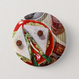 1950's eyeball sandwich 6 cm round badge