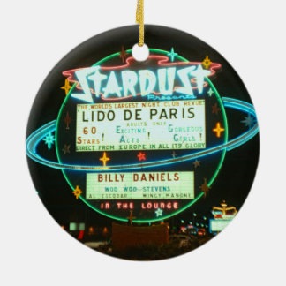 1950's Las Vegas Stardust Casino Neon Sign Christmas Ornament