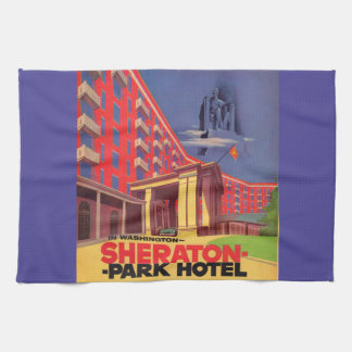 1950s Sheraton Park Hotel - Washington, DC ad Tea Towel
