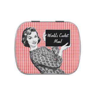 1950s Woman with a Sign Jelly Belly Candy Tin