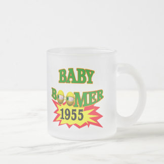 1955 Baby Boomer Frosted Glass Coffee Mug