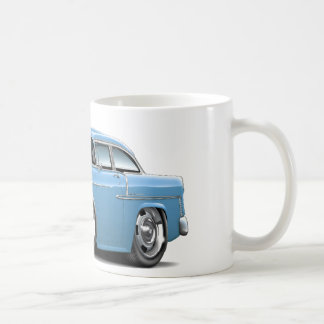 1955 Chevy Belair Lt Blue Car Coffee Mug