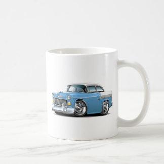 1955 Chevy Belair Lt Blue-White Car Coffee Mug