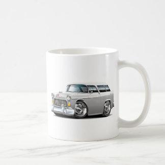 1955 Chevy Nomad White Car Coffee Mug
