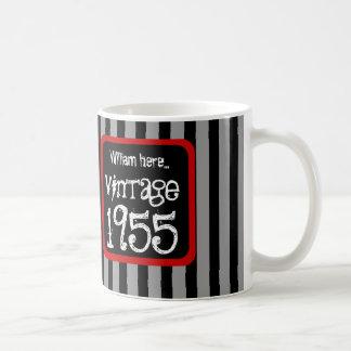 1955 Vintage or Any Birthday Year STRIPES S03Z Coffee Mug