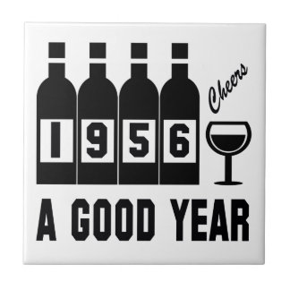 1956 A Good Year Small Square Tile