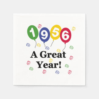 1956 A Great Year Birthday Paper Napkins