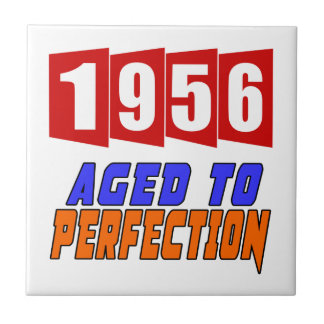 1956 Aged To Perfection Small Square Tile