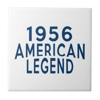 1956 American Legend Birthday Designs Small Square Tile