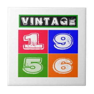 1956 Birthday Designs Ceramic Tiles