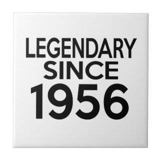 1956 Birthday Designs Small Square Tile