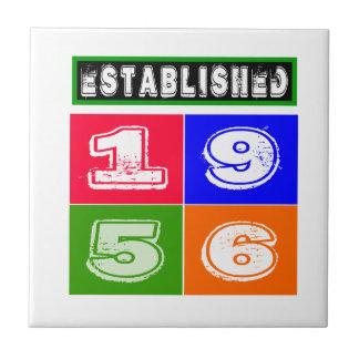 1956 Birthday Designs Tiles