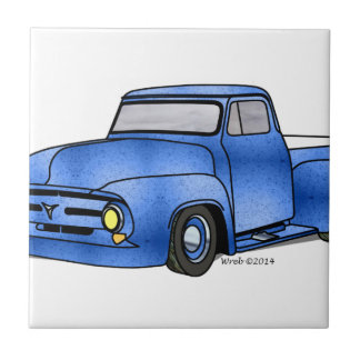 1956 Ford Pickup Small Square Tile