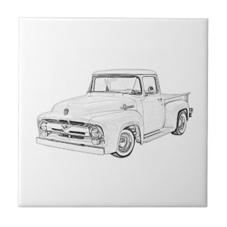 1956 Ford Truck Small Square Tile