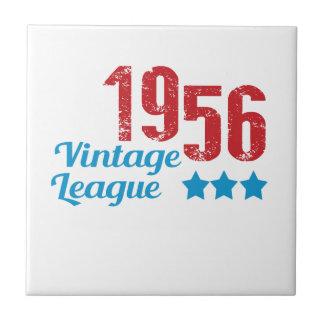 1956 vintage leaque small square tile