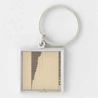 195 Lumber industry, products 1900 Silver-Colored Square Key Ring