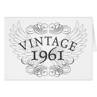 1961 Vintage with Wings Card