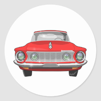 1962 Plymouth Fury Classic Round Sticker