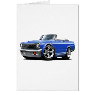 1964-65 Nova Blue Convertible Card