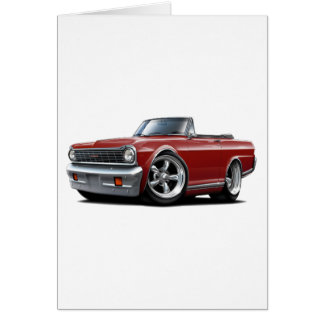 1964-65 Nova Maroon Convertible Card