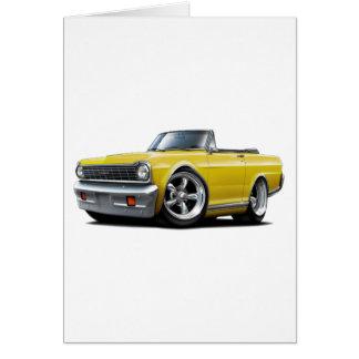 1964-65 Nova Yellow Convertible Card