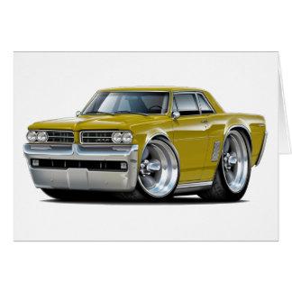 1964 GTO Gold Car Card