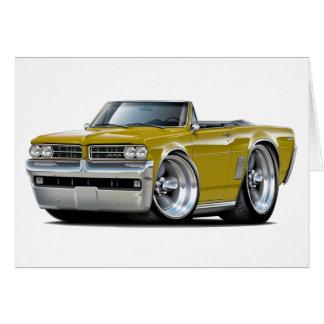 1964 GTO Gold Convertible Card