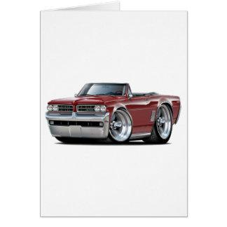 1964 GTO Maroon Convertible Card