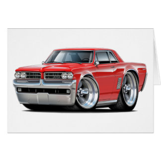 1964 GTO Red Car Card