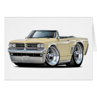 1964 GTO Tan Convertible Card
