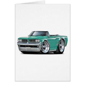 1964 GTO Teal Convertible Card