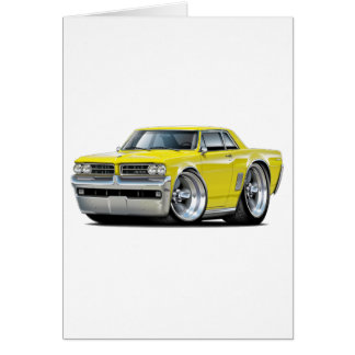 1964 GTO Yellow Car Card