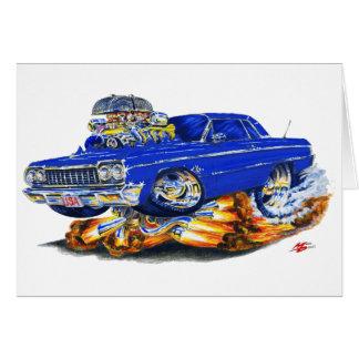 1964 Impala Dark Blue Car Card
