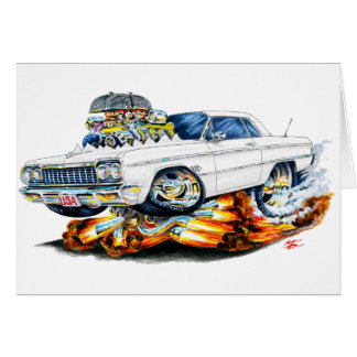 1964 Impala White Car Card