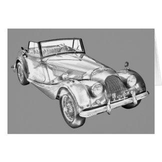 1964 Morgan Plus 4 Sports Car Illustration Card