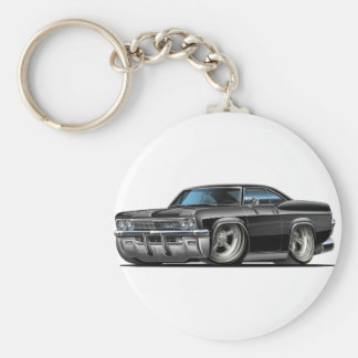 1965-66 Impala Black Car Basic Round Button Key Ring