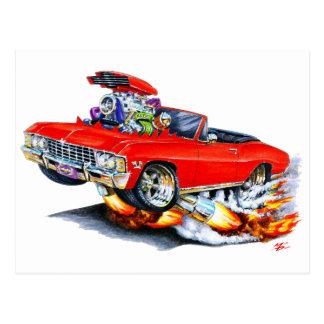 1965-66 Impala Red Convertible Postcard
