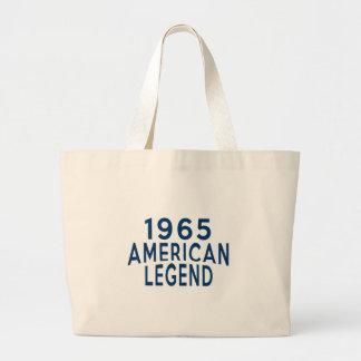 1965 American Legend Birthday Designs Large Tote Bag