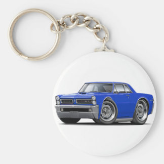 1965 GTO Blue Car Key Ring