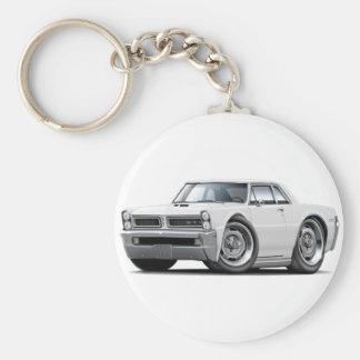 1965 GTO White Car Key Ring