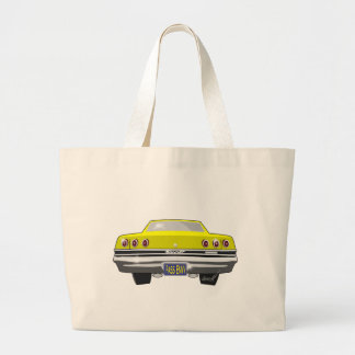 1965 Yellow Chevy Pass Envy Large Tote Bag