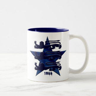 1966 3 lions England soccer t-shirts and gifts Two-Tone Mug