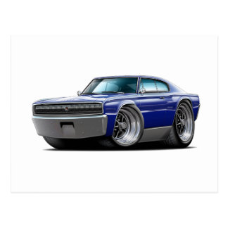 1966-67 Charger Dark Blue Car Postcard